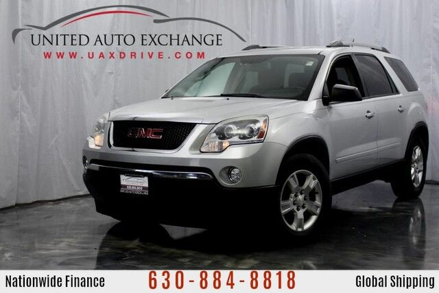2012 GMC Acadia 3.6L V6 Engine SLE **3rd Row Seats** w/ Bluetooth Connectivity, Rear View Camera, Tri-Zone Climate Control, Heated Leather Front Seats Addison IL