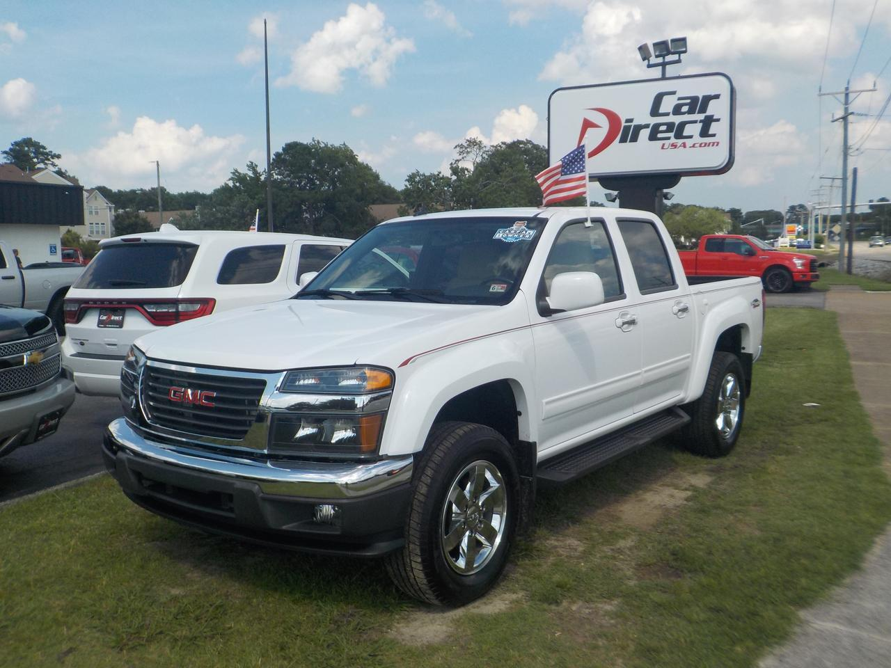 2012 GMC CANYON SLE-2 CREW CAB 4X4, BED LINER, RUNNING BOARDS, ONSTAR, BLUETOOTH, FENDER FLARES, TINTED WINDOWS, TOW Virginia Beach VA
