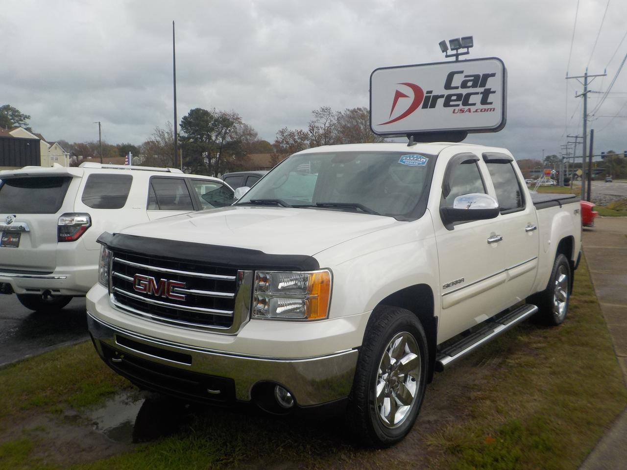 2012 GMC SIERRA 1500 CREW CAB SLT 4X4, SOFT TONNEAU COVER, BACKUP CAMERA, REMOTE START, SUNROOF, ONLY 56K MILES!,