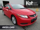2012 Honda CIVIC COUPE EX! SUNROOF! FULLY INSPECTED! LOCAL KELOWNA UNIT! NO ACCIDENTS! 4 NEW TIRES!