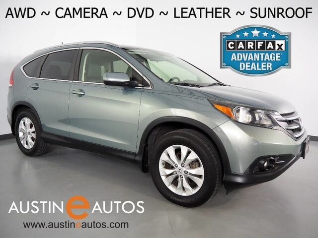 2012 Honda CR-V AWD EX-L w/RES *BACKUP-CAMERA, MOONROOF, REAR DVD, LEATHER, HEATED SEATS, STEERING WHEEL CONTROLS, ALLOY WHEELS, BLUETOOTH PHONE & AUDIO Round Rock TX
