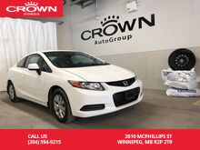 2012_Honda_Civic Coupe_LX *CLEARANCE PRICING*/KEY LESS ENTRY/ BLUETOOTH / WINTER TIRES/ REMOTE START_ Winnipeg MB