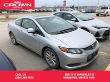 2012_Honda_Civic Cpe_EX 2Dr Coupe / Low Kms / BC Vehicle / Great Value_ Winnipeg MB