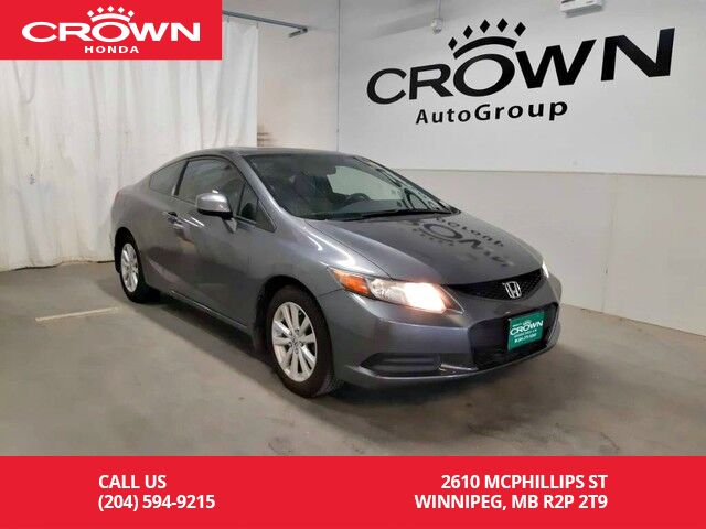 2012 Honda Civic Cpe EX-L/ one owner/ navigation system/remote start/sunroof/ heated seats/ econ mode assist Winnipeg MB