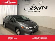 2012_Honda_Civic_DX /5 speed_ Winnipeg MB