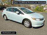 2012 Honda Civic Sdn LX - Power Windows and Locks - Cruise