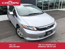 2012_Honda_Civic Sdn_LX *Accident Free/Remote Starter*_ Winnipeg MB