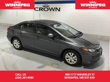 2012_Honda_Civic Sdn_One Owner/Low Kilometres/Accident Free_ Winnipeg MB