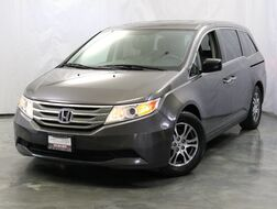 2012_Honda_Odyssey_5DR EX-L / 3.5L V6 Engine / Power Doors / 3rd Row Seats / Leather Seats / Bluetooth / USB + AUX / Rear View Camera / Tri-Zone Climate Control / Heated Seats_ Addison IL