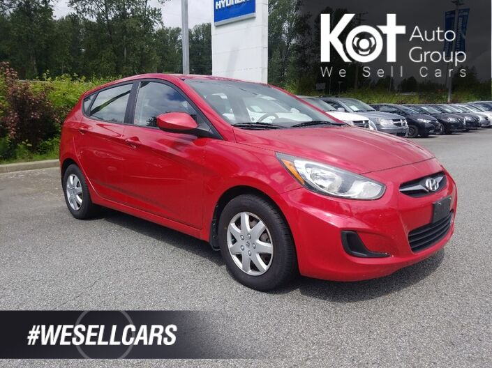 2012 Hyundai ACCENT MANUAL! HATCHBACK! NO ACCIDENTS! BEST DEAL ON THE LOT! NO BRAINER! Penticton BC