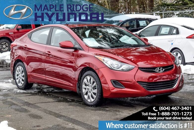 2012 Hyundai Elantra 4dr Sdn Auto GL Bluetooth, Keyless Entry Maple Ridge BC