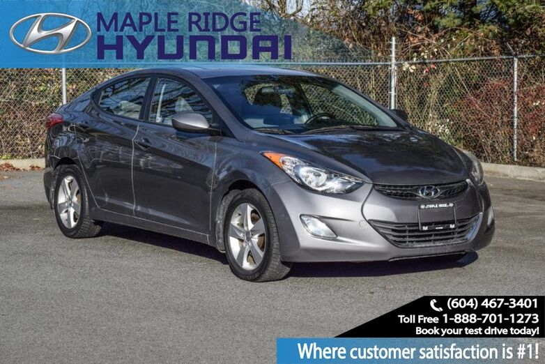 2012 Hyundai Elantra Bluetooth, Sunroof, Alloy wheels, Low KMs Maple Ridge BC