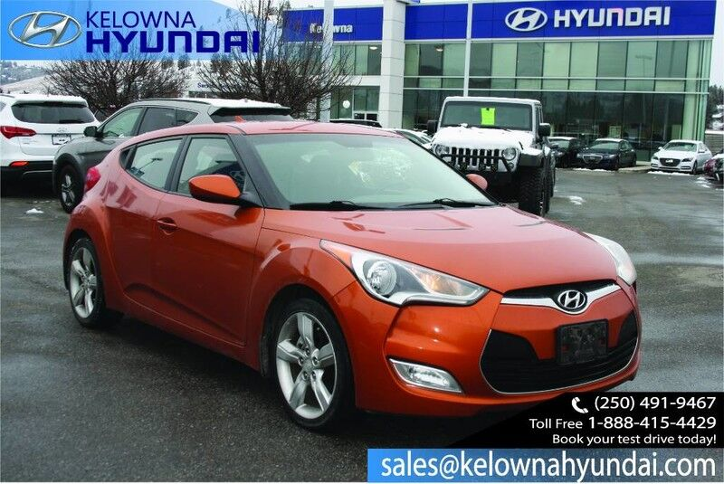 2012 Hyundai Veloster 3Dr Cpe Auto back up camera, Hands free Bluetooth Kelowna BC