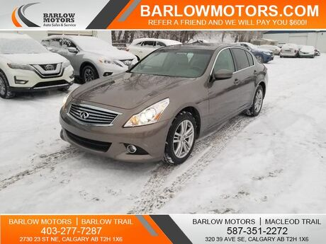 2012 INFINITI G25 Sedan AWD SUNROOF LEATHER Calgary AB