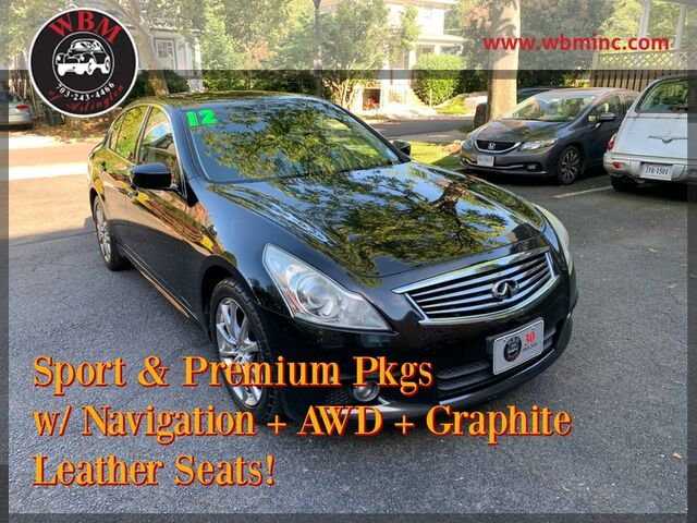2012 INFINITI G37 Sedan x Sport Appearance Edition Arlington VA
