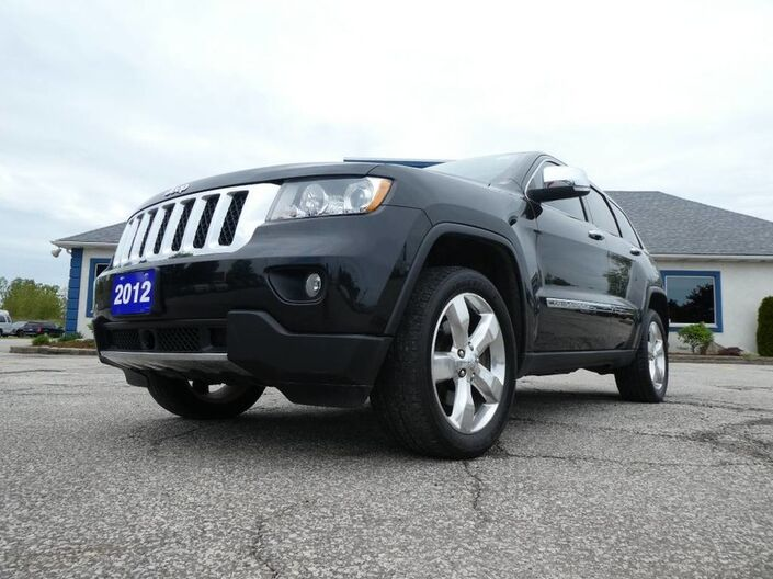 2012 Jeep Grand Cherokee Overland- 4X4- BROWN LEATHER- NAV- LOADED- HEATED SEATS Essex ON