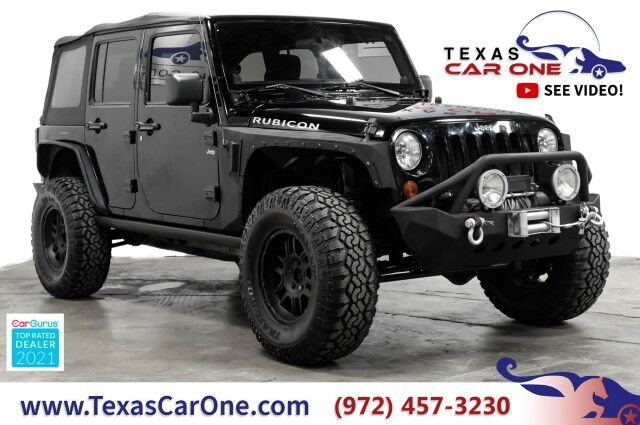 2012 Jeep Wrangler UNLIMITED RUBICON 4WD SOFT TOP CONVERTIBLE TOWING HITCH ALLOY WHEELS Carrollton TX