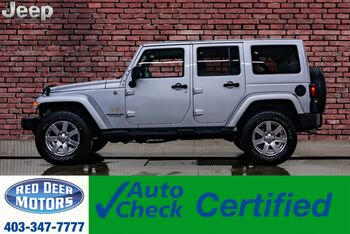 2012_Jeep_Wrangler Unlimited_4x4 Sahara Leather Nav_ Red Deer AB
