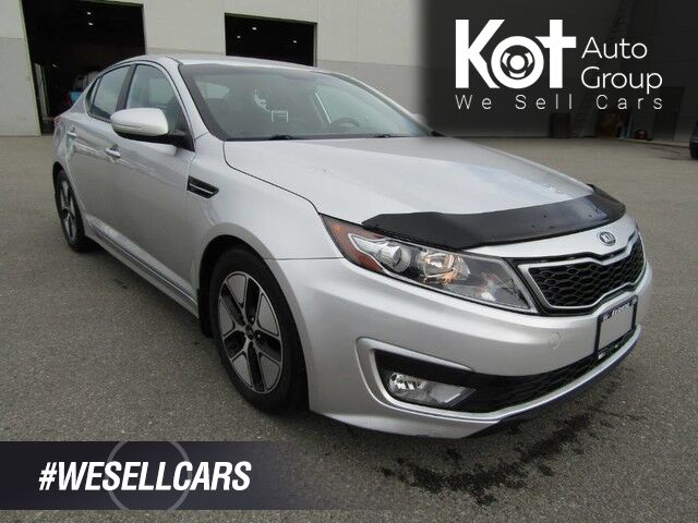 2012 Kia OPTIMA HYBRID! LEATHER! BACKUP CAM! BLUETOOTH! AMAZING ON GAS! 4 BRAND NEW TIRES! Kelowna BC