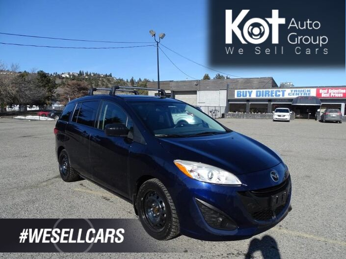2012 Mazda 5 GS, 6 PASS! ROOF RAILS! LOW PAYMENTS! Kelowna BC