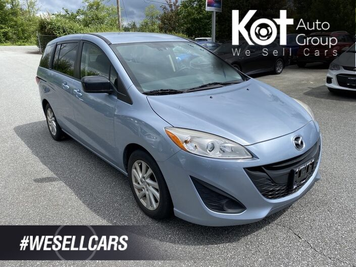 2012 Mazda 5 GS! 7 PASSENGER! GREAT FAMILY CAR! SAVE ON GAS! NO ACCIDENTS! GREAT DEAL! Penticton BC