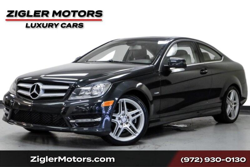 2012 Mercedes-Benz C-Class C 250 Coupe AMG Sport One Owner Clean Carfax Multimedia Pkg Pano Roof AMG Addison TX