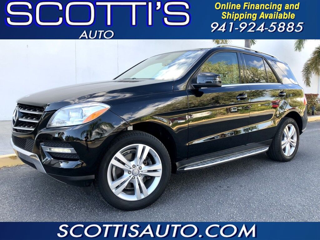 2012 Mercedes-Benz M-Class ML350~BLACK/TAN~ CLEAN CARFAX~ NAVIGATION~ CAMERA~ SUNROOF~ CLEAN~ ONLINE FINANCE AND SHIPPING ~ APPLY TODAY! Sarasota FL