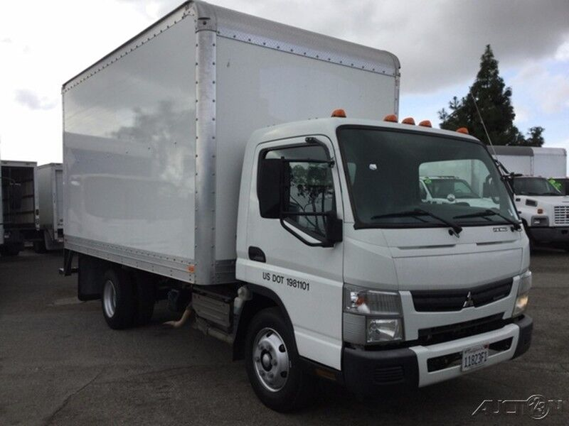 2012 Mitsubishi FE160 14Ft Box Truck with Ramp Diesel