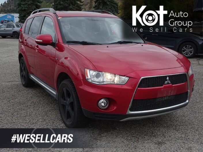 2012 Mitsubishi Outlander GT, Bluetooth, Back-Up Camera, Leather, Sunroof Kelowna BC