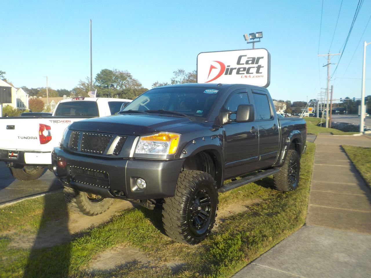 2012 NISSAN TITAN PRO-4X CREW CAB 4X4, XD SERIES RIMS, ROCKFORD FOSGATE SOUND, TOW PKG, LEATHER, ONLY 52K MILES! Virginia Beach VA
