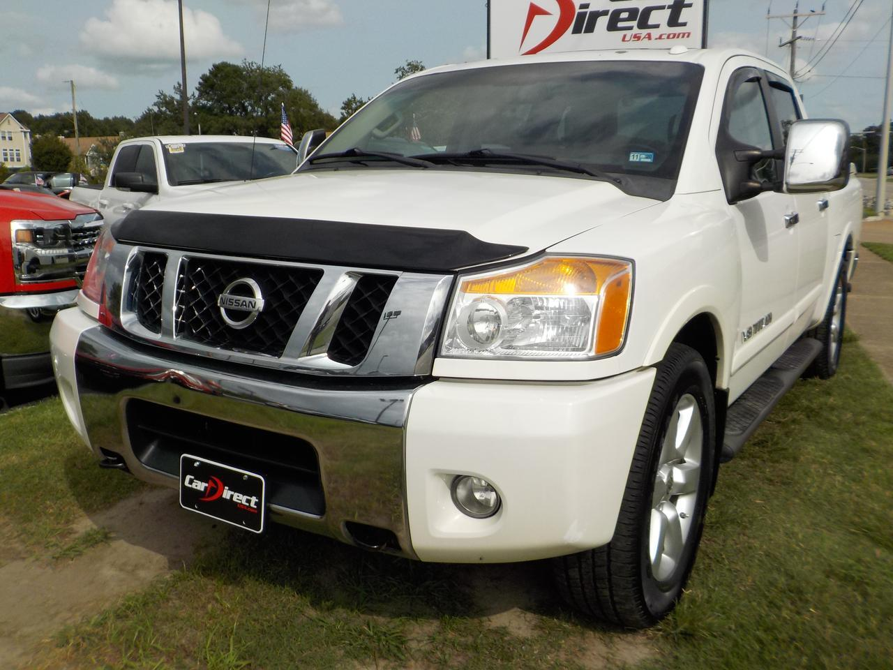 2012 NISSAN TITAN SL FLEX FUEL, BACKUP CAM, DVD SYETM, HARD TONNEAU COVER, POWER SLIDING REAR WINDOW, TOW/ HITCH PKG!! Virginia Beach VA