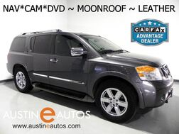 2012_Nissan_Armada Platinum_*NAVIGATION, BACKUP-CAMERA, REAR DVD, 2ND ROW BUCKET SEATS, 3RD ROW, LEATHER, MOONROOF, HEATED SEATS, BOSE AUDIO, BLUETOOTH_ Round Rock TX
