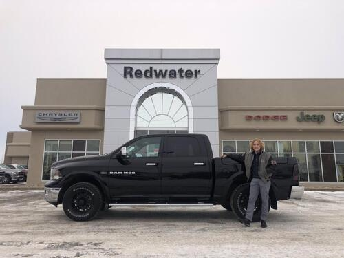 2012_Ram_1500_Laramie - One Owner - DVD - RamBox Cargo Management System - Sunroof - Heated/ Cooled Leather Seats_ Redwater AB