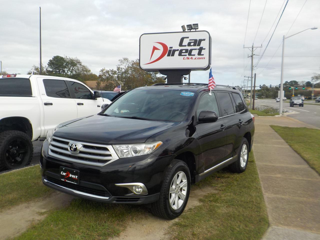 2012 TOYOTA HIGHLANDER AWD, ONE OWNER, LEATHER, SUNROOF, 3RD ROW SEATING, HEATED SEATS, ONLY 88K MILES!