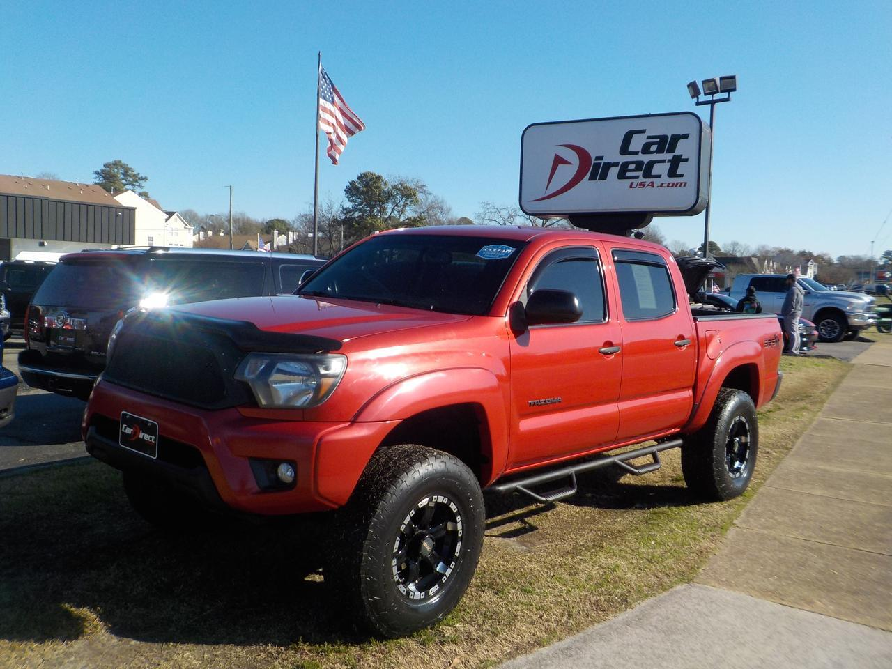 2012 TOYOTA TACOMA PRERUNNER SR5 DOUBLE CAB RWD, LIFTED, STEP BARS, TOW PACKAGE, BLUETOOTH, CUSTOM MB WHEELS! Virginia Beach VA