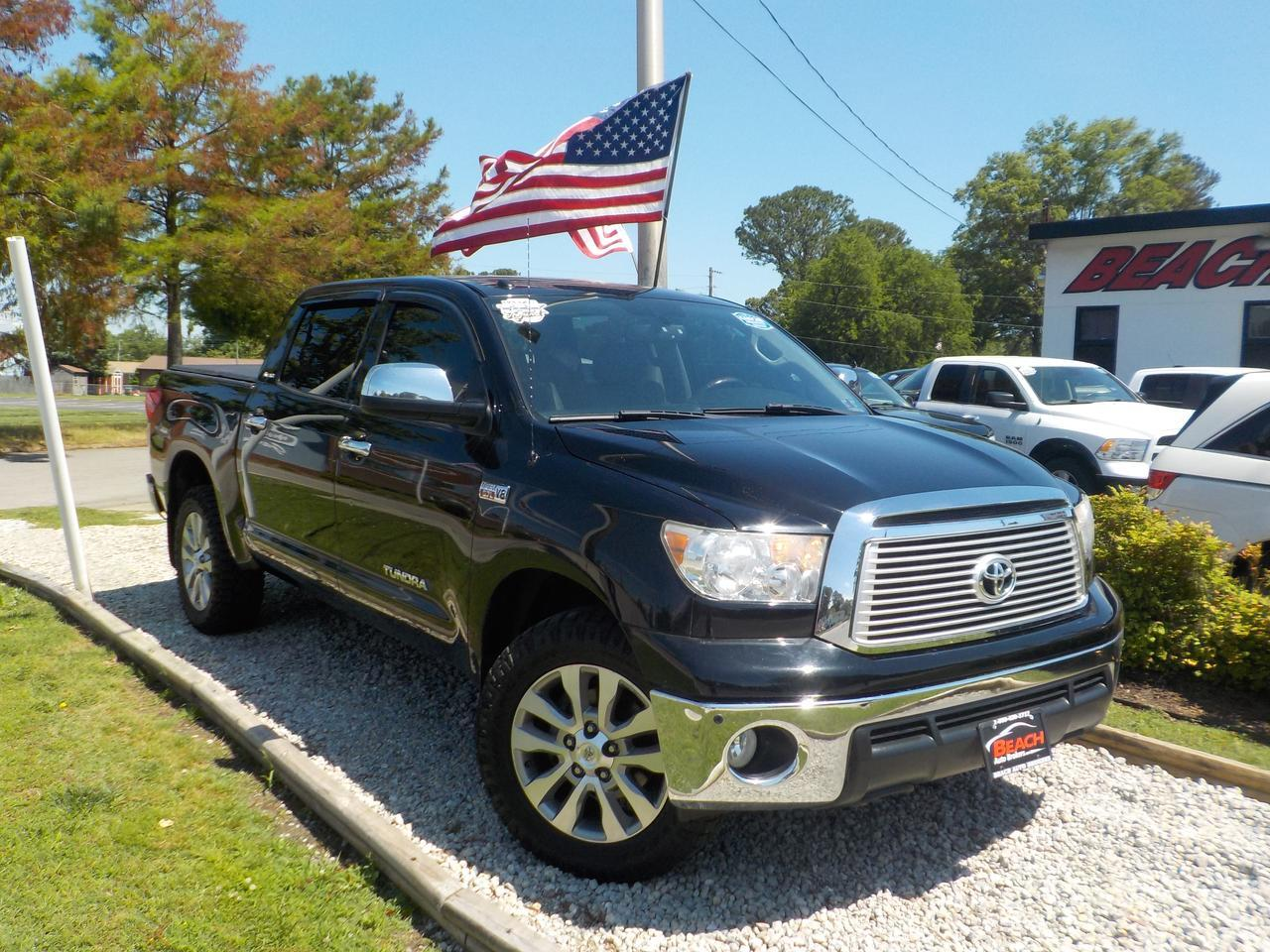 2012 TOYOTA TUNDRA LIMITED CREWMAX 4X4, WARRANTY, LEATHER, SUNROOF, BACKUP CAM, PARKING SENSORS, NAV, BLUETOOTH! Norfolk VA