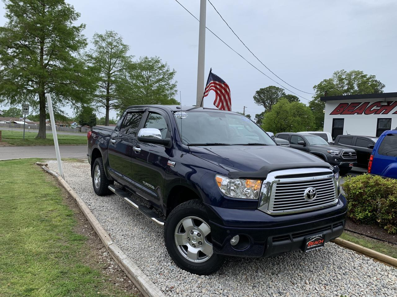 2012 TOYOTA TUNDRA LIMITED CREWMAX 4X4, WARRANTY, LEATHER, TRD OFF ROAD PKG,SUNROOF, HEATED SEATS, BACKUP CAM, 1 OWNER! Norfolk VA