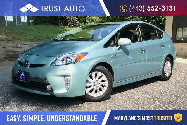 2012 Toyota Prius Plug-In Advanced Hybrid-Electric Hatchback Sykesville MD
