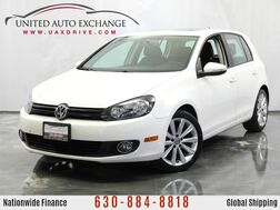 2012_Volkswagen_Golf_2.0L Turbocharged **DIESEL** TDI Engine FWD Hatchback w/ Sunroof, Navigation System, Bluetooth Wireless Tech, AUX Input, Heated Leather Seats_ Addison IL