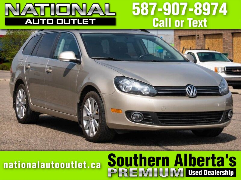 2012 Volkswagen Golf Wagon Comfortline -NAVIGATION - MOON ROOF- HEATED LEATHER Lethbridge AB