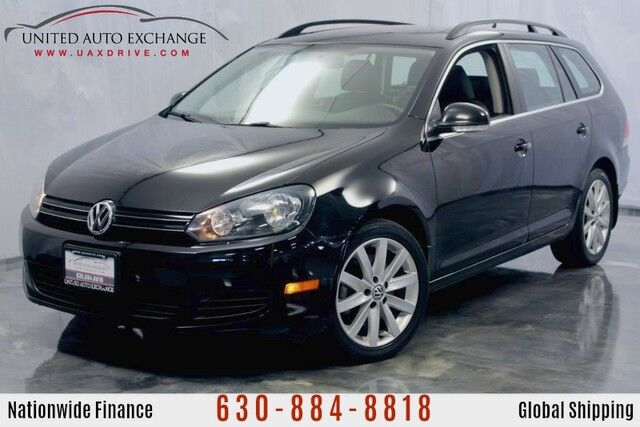 2012 Volkswagen Jetta SportWagen 2.0L **DIESEL Engine** TDI FWD Wagon w/ Panoramic Sunroof, Heated Leather Seats, Roof Rails, Bluetooth Connectivity, AUX & SD Card Support Addison IL