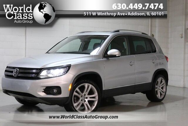 2012 Volkswagen Tiguan SEL - AWD NAVIGATION BACKUP CAMERA POWER ADJUSTABLE HEATED LEATHER SEATS PANO ROOF ALLOY WHEELS TURBOCHARGED ENGINE Chicago IL