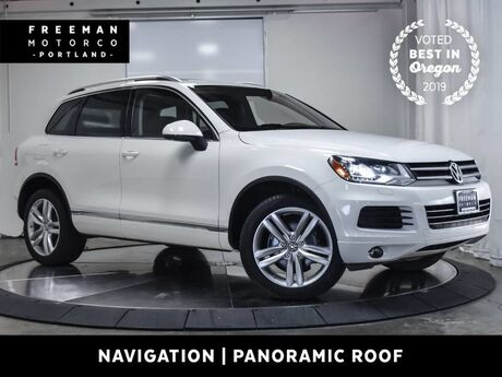 2012 Volkswagen Touareg TDI Diesel Executive AWD Tow Pano Roof Navigation Portland OR