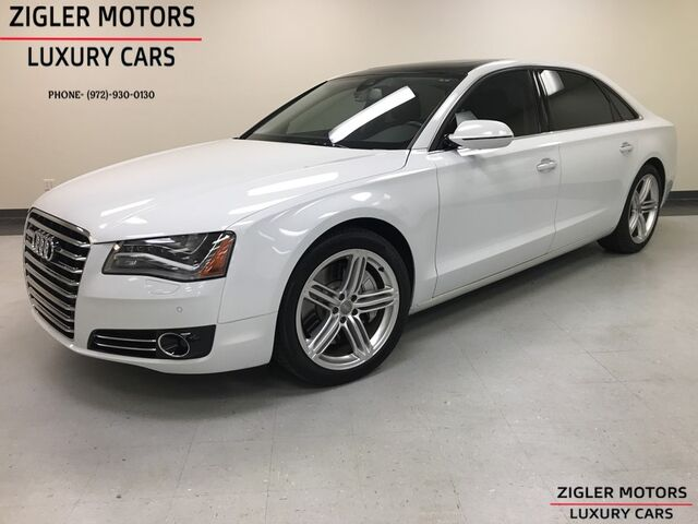 2013 Audi A8 L 4.0 T V8 Sport Design Pkg, Pano Roof, Clean Carfax beautiful! Addison TX