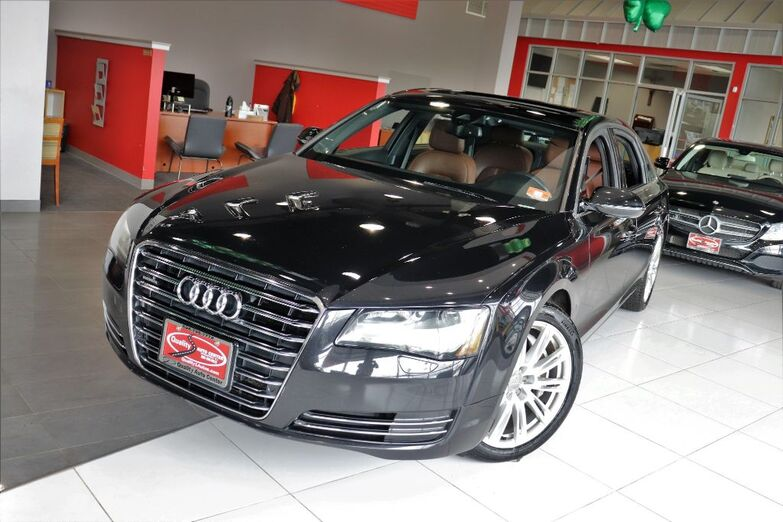 2013 Audi A8 L 4.0L Rear Entertainment System Navigation 20 inch Wheels Cold Weather Package Sunroof Springfield NJ