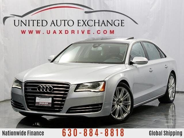 2013 Audi A8 L 4.0L Twin-Turbocharged V8 Engine Quattro AWD With Panoramic Sunroof, Navigation, Front and Rear Parking Aid with Rear View Camera & 14-speaker Bose Premium Surround Sound System Addison IL