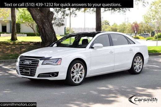 2013 Audi A8 L 4.0L White/Blk Comfort & Driver Assist Pack MSRP $94595 LED Headlights! Fremont CA