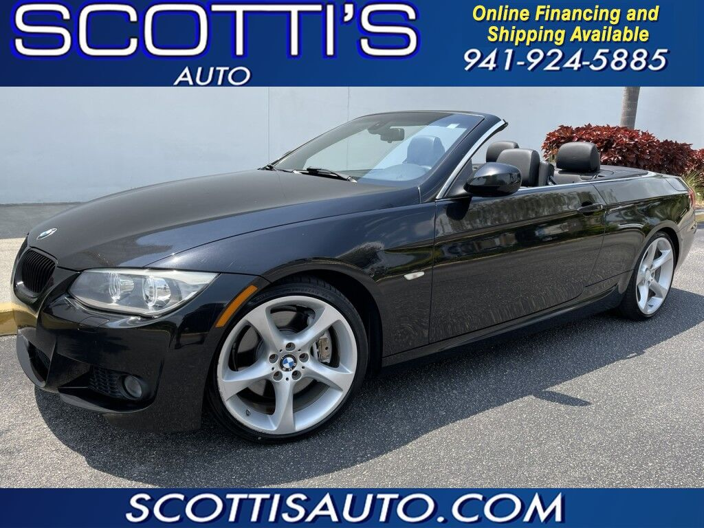 2013 BMW 3 Series 335i~M-PACKAGE~ HARD TOP CONVERTIBLE~ TWIN TURBO~ ONLY 51K MILES~ CLEAN CARFAX~ WE OFFER ONLINE FINANCE AND SHIPPING! Sarasota FL