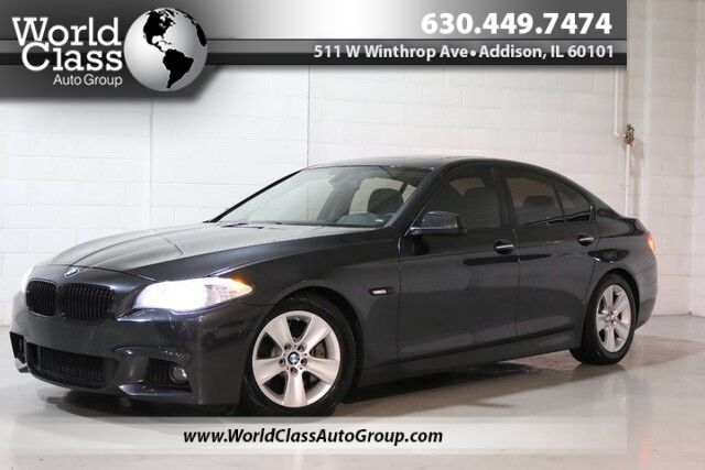 2013 BMW 5 Series 535i xDrive - Adjustable Suspension Modes Sun Roof Wood Grain Interior Heated Leather Seats Navigation Push Button Start Keyless Entry Around Car Camera System Parking Sensors Heads Up Display Chicago IL