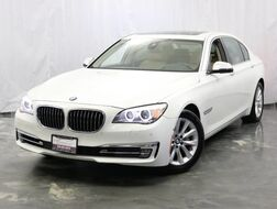 2013_BMW_7 Series_740Li / 3.0L Twin Turbo 6-Cyl Engine / RWD / Sunroof / Navigation / Bluetooth / Push start / Active Blind spot Detection / Lane Departure Warning / Front Collision Warning / Parking Aid with Rear View Camera_ Addison IL